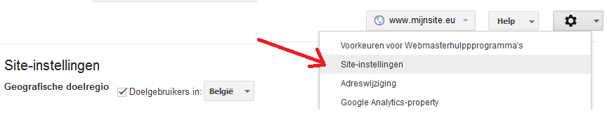 siteinstellingenWebmasterTools